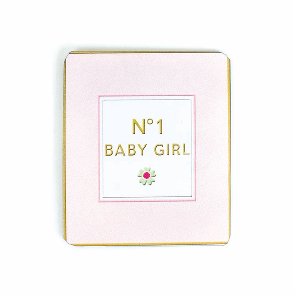 Metal No 1 Baby Girl Magnet by Heaven Sends