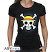 One Piece - Skull With Map Women's Large T-Shirt - Black - Image 2