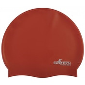 SwimTech Silicone Swim Cap Red
