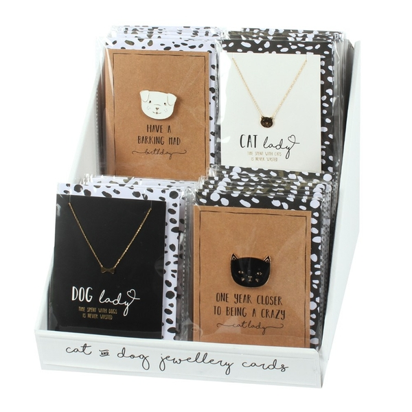 Set of 32 Cat and Dog Cards with Jewellery