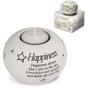 Said with Sentiment Tea Light Holders Happiness