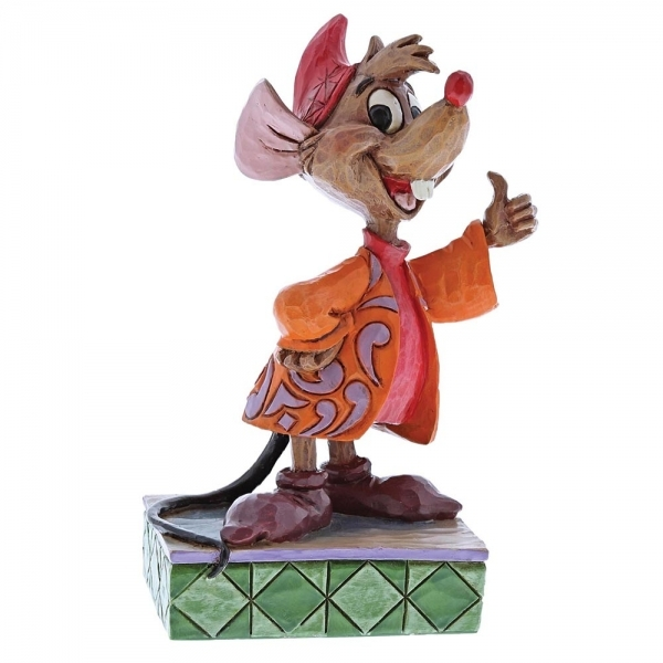 Thumbs Up Jaq (Cinderella) Disney Traditions Figurine - Image 1