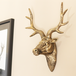 Stag Deer Head Wall Sculpture | M&W Gold - Image 5