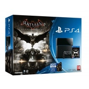 PlayStation 4 (500GB) Black Console with Batman Arkham Knight Including Scarecrow DLC & DC Comic