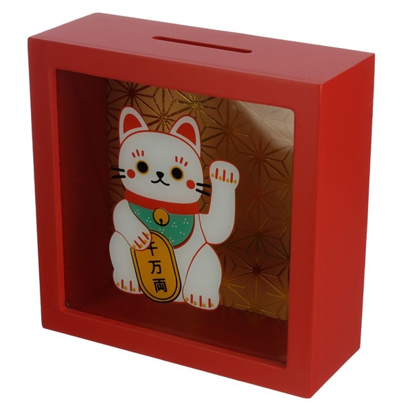 Maneki Neko Lucky Cat Window Money Box