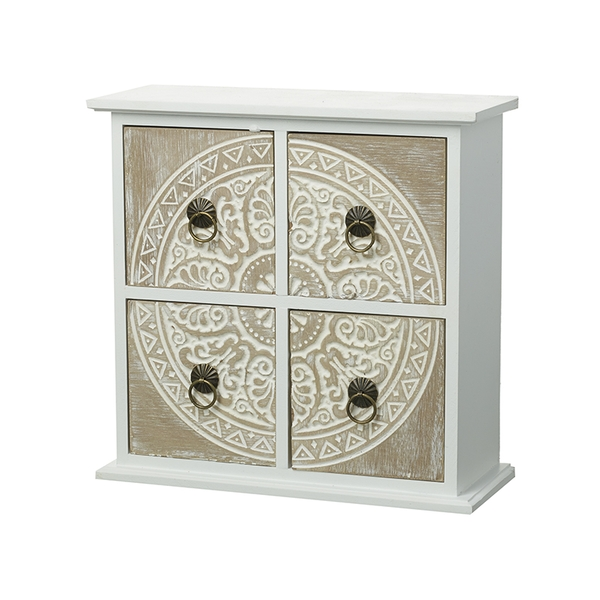 White & Lime Patterned Drawers By Heaven Sends
