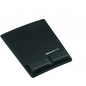 FELLOWES BLACK MOUSEPAD W/REST
