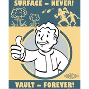 Fallout Vault Forever Mini Poster
