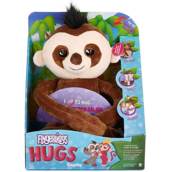 Wow Wee Fingerling Hugs - Kingsley The Sloth Plush Toy