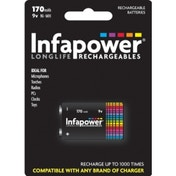INFAPOWER 9V 170MAh NI-MH Rechargeable Battery (1-Pack) B007