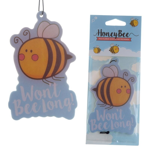 Honey Bee Design Honey Scented (Pack Of 6) Air Freshener