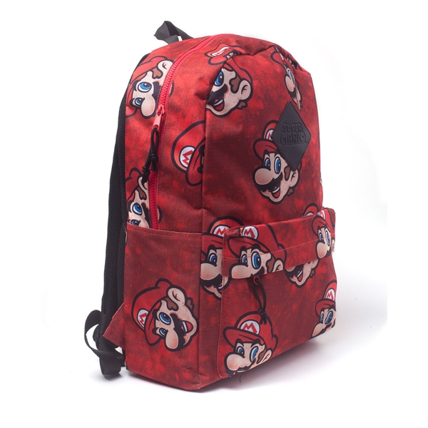 Nintendo - Super Mario Bros. Sublimation Print Backpack - Red