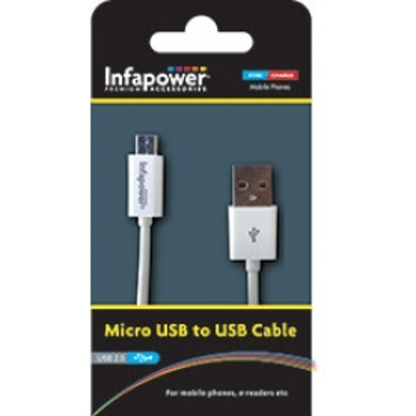 Infapower Micro USB to USB Cable White