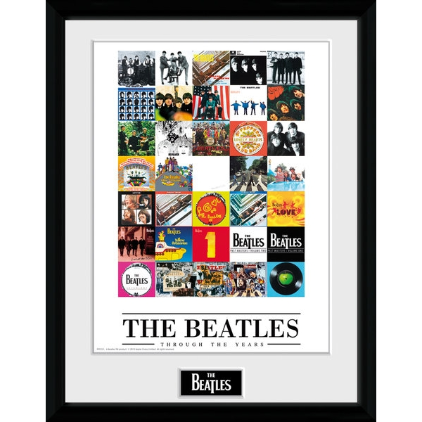 The Beatles Through The Years Framed 16x12 Photographic Print