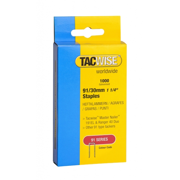 Tacwise Tacker Staples (91) 30mm
