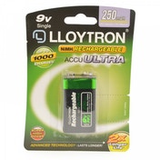Lloytron B018 Rechargeable PP3 9V Ni-MH Batteries 250mAh
