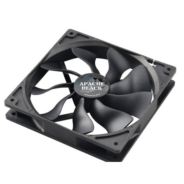 Akasa AK-FN062 Apache Black Super Silent 140mm Fan - 4 Pin PWM