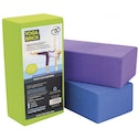 Yoga-Mad Hi-density Yoga Brick 220mm x 110mm x 70mm Purple
