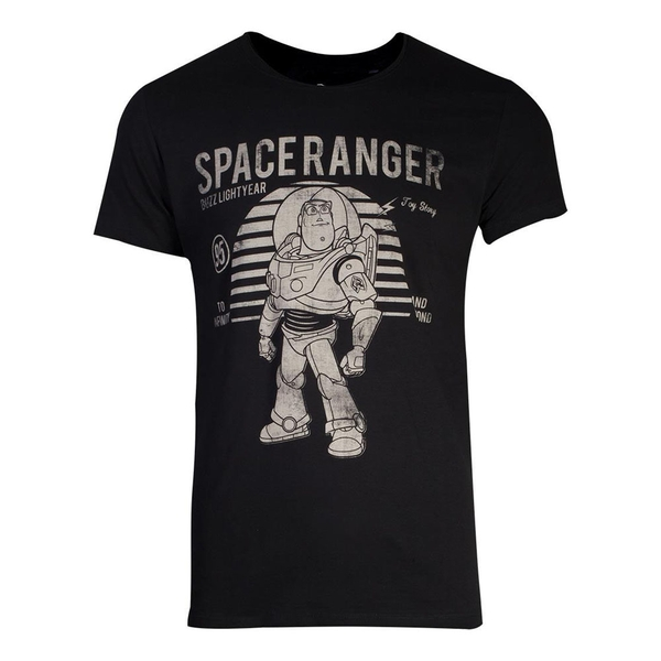 Disney - Space Ranger Buzz Lightyear Vintage Men's Large T-Shirt - Black