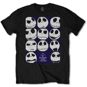 The Nightmare Before Christmas - Blockheads Men's Large T-Shirt - Black