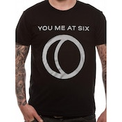 You Me At Six - Half Moon Men's Large T-Shirt - Black