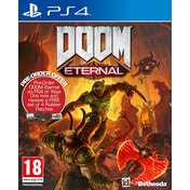 Doom Eternal PS4 Game + Set of 4 Rubber Patches (Inc DLC Pack)