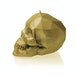 Classic Gold Low Poly Skull Candle - Image 3