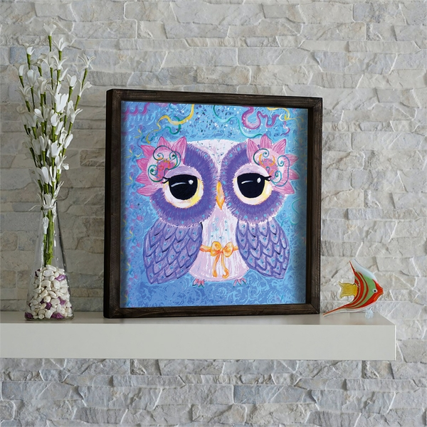 KZM664 Multicolor Decorative Framed MDF Painting