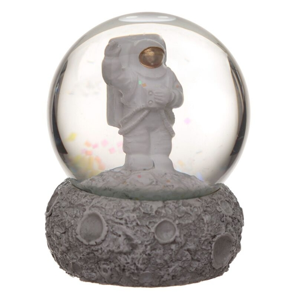 Moon and Space Man Snow Globe Waterball