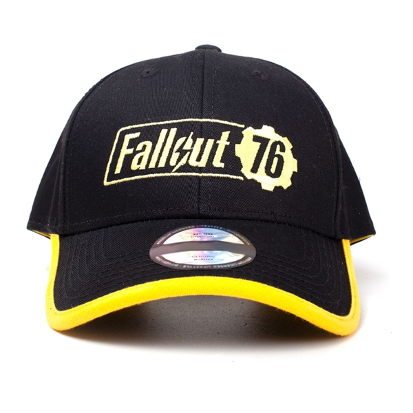 Fallout - Embroidered Logo Unisex One Size Cap - Black/Yellow