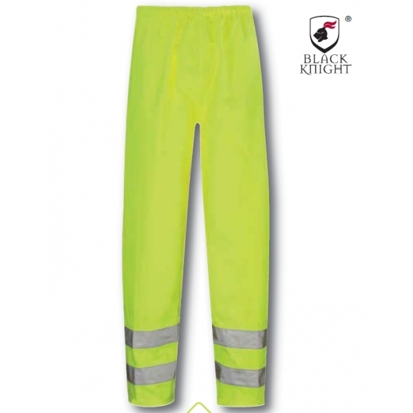 Black Knight Large Hawk High Visibility Trousers - Yellow