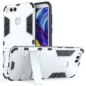 Huawei Honor 7X Armour Combo Stand Case - Steel Silver