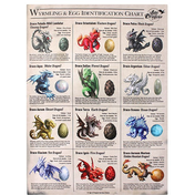 Large Wyrmling & Egg Identification Chart Canvas Picture by Anne Stokes