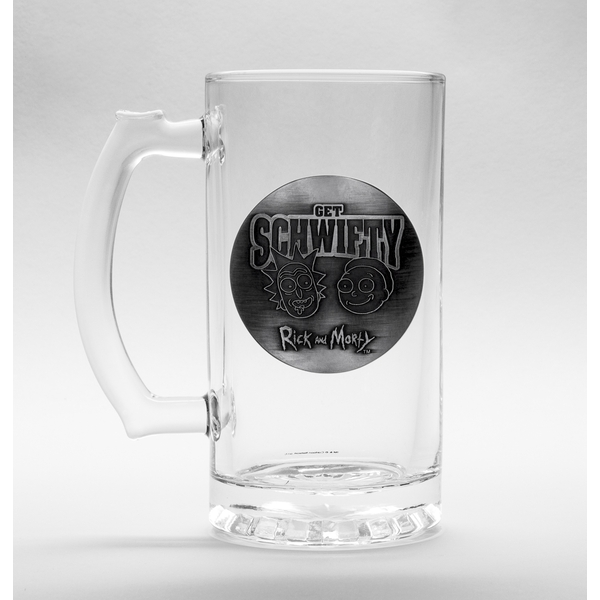 Rick and Morty Schwifty Glass Stein - Image 1