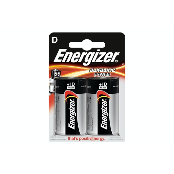 Energizer LR20 Max D 2x Alkaline Power Batteries 1.5V