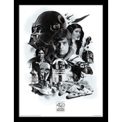 Star Wars 40th Anniversary - Montage Framed 30 x 40cm Print