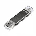 Hama Laeta Twin FlashPen USB 2.0 64 GB 10 MB/s Grey