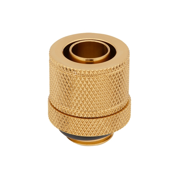Corsair Hydro X Series XF Gold Compression 10/13mm (3/8 / 1/2 inch) ID/OD Fittings - Four Pack