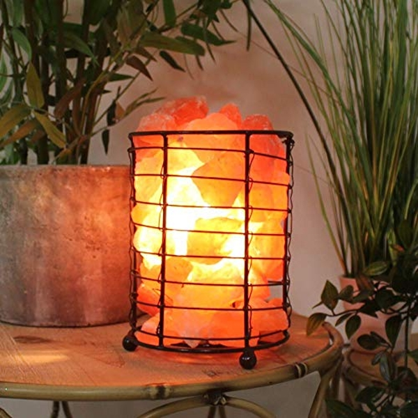 Hestia Global Artisan Basket of Rocks Salt Lamp 17cm