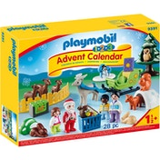Playmobil 1.2.3 Advent Calendar - Christmas is the Forest with Reindeer Sleigh
