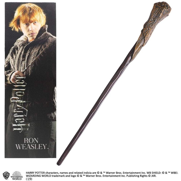 Ron Weasley PVC Wand and Prismatic Bookmark by The Noble Collection
