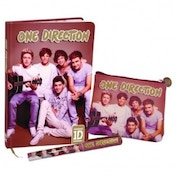 One Direction Pen Notebook and Coin Purse Gift Set