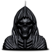 Wax Reaper Skull Scented Candle With Metal Sculpture Inside