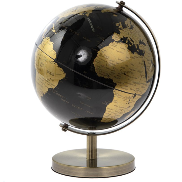 Small Globe Black & Gold by Lesser & Pavey