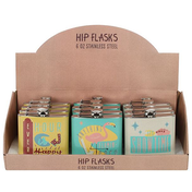 Set of 12 Nevada Nights Hip Flasks