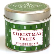 Christmas Trees Tin Country Candle