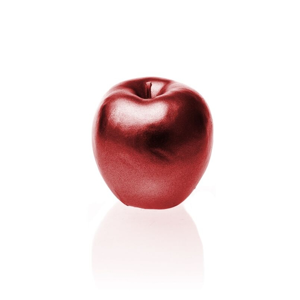 Red Metallic Apple Candle