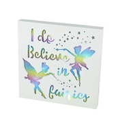 Believe Fairy Led Sign