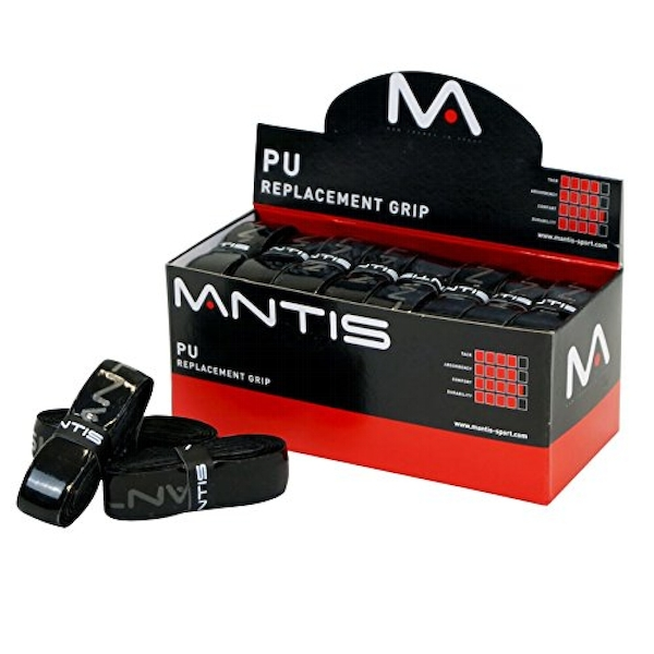 MANTIS PU Replacement Grips Black Box of 24