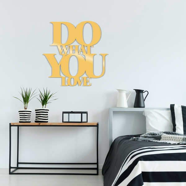 Do What You Love Metal Decor - Gold Gold Decorative Metal Wall Accessory